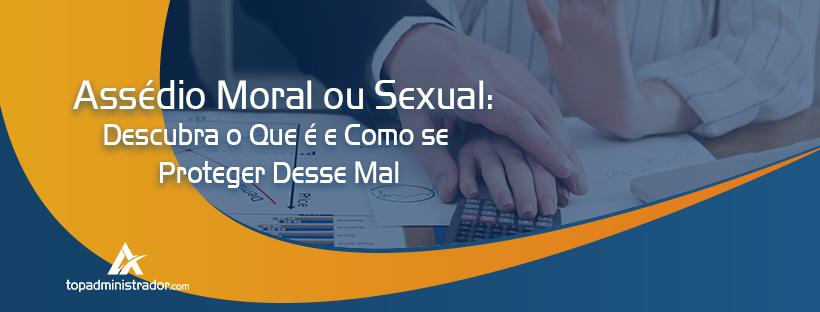 assédio moral ou sexual